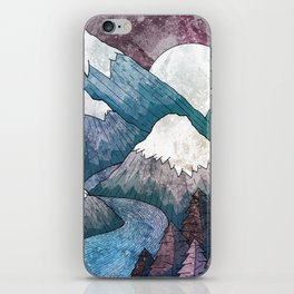 A cold river canyon iPhone Skin