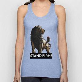 Stand Firm Lion -- WWII Propaganda Unisex Tank Top