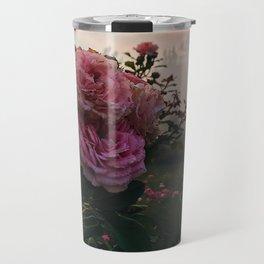 Foggy Pink Flower Travel Mug