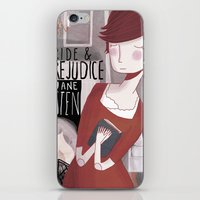 pride and prejudice iPhone & iPod Skins featuring Pride and Prejudice by Nan Lawson