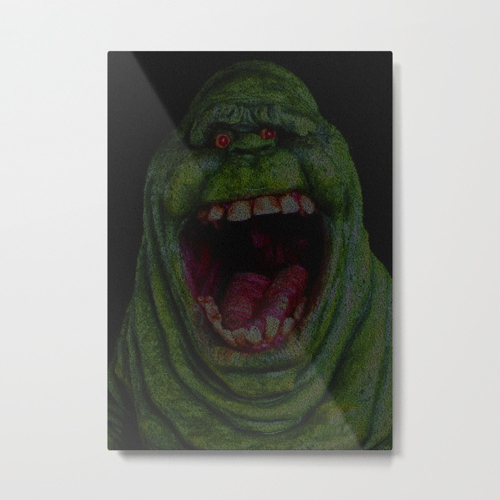 Slimer: Ghostbusters Screenplay Print Metal Print by Roboticewe MTP8617631