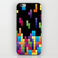 tetris iPhone & iPod Skins featuring Tetris Troubles. by Digi Treats 2