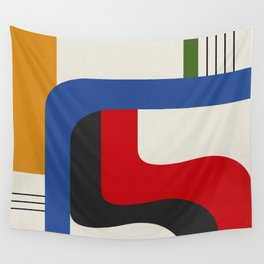 TAKE ME OUT (abstract geometric) Wall Tapestry
