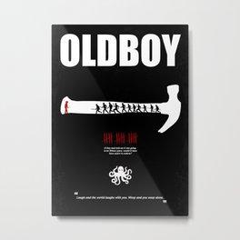 Oldboy - Minimal Movie Poster. A Film by Chan-wook Park. Metal Print