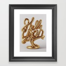 Hell Yeah GOLD Framed Art Print