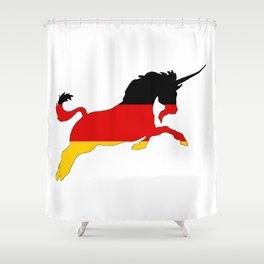 German Flag - Unicorn Shower Curtain