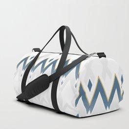 Icelandica Pattern Blue Duffle Bag