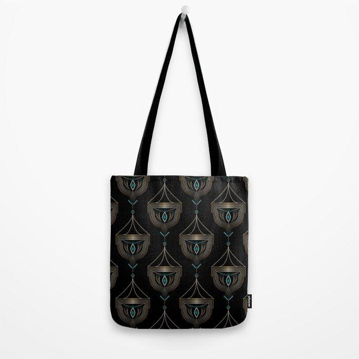"""Art Deco . """"Gold pendants """". Tote Bag"""