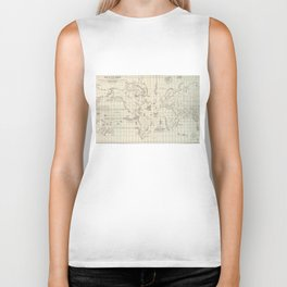 Vintage Map of The World Whaling Grounds (1880) Biker Tank