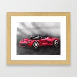 La LaFERRARI Framed Art Print