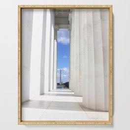 Lincoln Memorial View Washington DC Serving Tray