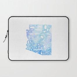Typographic Arizona - Blue Watercolor Laptop Sleeve