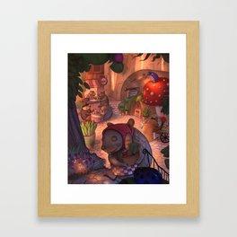 Mouse Cafe / illustration Framed Art Print