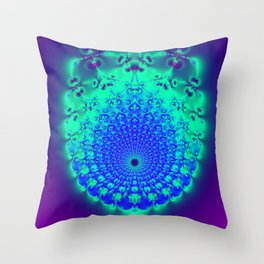 Fractal Conduit Throw Pillow