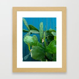 'Magic Cactus in Emerald' Framed Art Print