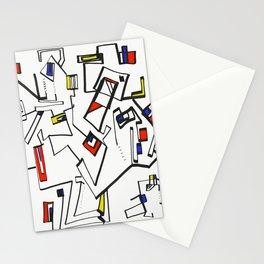 Geometric Mondrian Stationery Cards