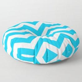 Capri - turquoise color -  Zigzag Chevron Pattern Floor Pillow