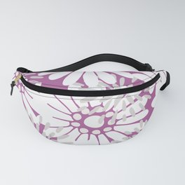 Summer Flowers Purple Fanny Pack