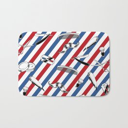 Barber Shop Pattern Bath Mat