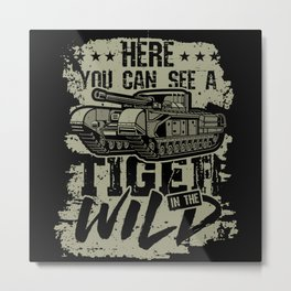 Tiger in the Wild Metal Print