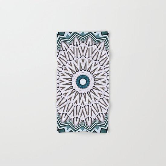 Turquoise Kaleidoscope Hand & Bath Towel