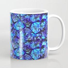 Blue gemstone wall Coffee Mug
