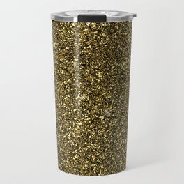 modern dark gold glitter and sparkled shine Travel Mug