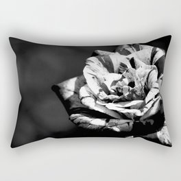 Different but beautiful, black and white wild rose flower photography Rectangular Pillow