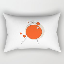 Paper doll with red balls Rectangular Pillow