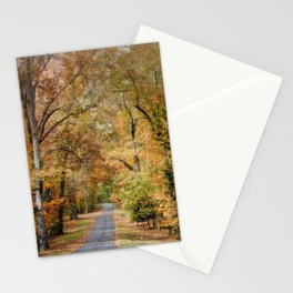 Autumn Passage 2 - Fall Landscape Scene Stationery Cards