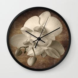 Vintage Flowers Digital Collage  2 Wall Clock