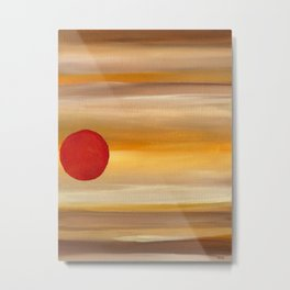 Acrylic Abstract Painting Sunny Day Metal Print