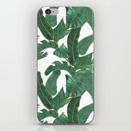 banana leaves pattern iPhone Skin