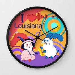 Ernest and Coraline | I love Louisiana Wall Clock