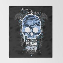 Extreme ride Throw Blanket