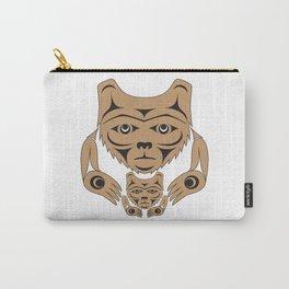 Spirit Bear & Cub by: Jody Broomfield Carry-All Pouch