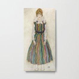 Egon Schiele - Portrait of Edith (the artist's wife) Metal Print