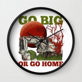 Go Big Excavator Wall Clock
