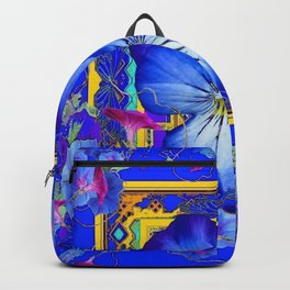 DECORATIVE BLUE PANSY & VINING  MORNING GLORIES Backpack