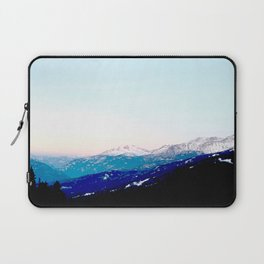 Mountain views abstracted to color blocks Laptop Sleeve