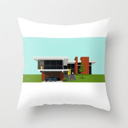 Mid Century House 4 Throw Pillow