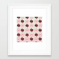 donuts Framed Art Prints featuring Donuts!! by Oh Monday