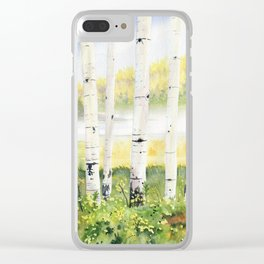 Behind The Birch Trees Clear iPhone Case