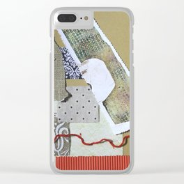 Earthy Collage Clear iPhone Case