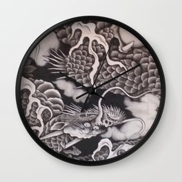 Cool traditional Japanese Dragon Texture Wall Clock