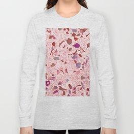 Terrazzo pink Long Sleeve T-shirt