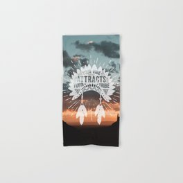 Your Vibe Attracts Your Tribe - Monument Valley Hand & Bath Towel