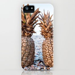 Gold Pineapples iPhone Case