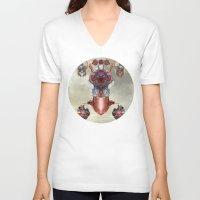 kaiju V-neck T-shirts featuring Kaiju by DIVIDUS