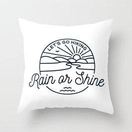 Let's Go Hiking Throw Pillow